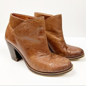 Lucky Brand Leather Booties Round Toe 6
